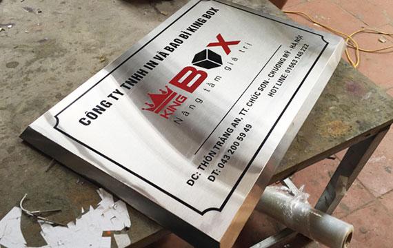 Biển hiệu công ty-bảng inox
